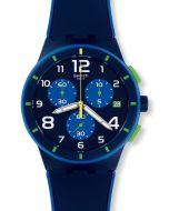 Swatch Chrono Plastic Bleu Sur Bleu SUSN409