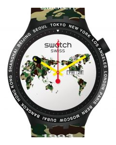 Swatch x Bape Big Bold Bape The World SO27Z700