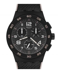 Swatch Plastic Chrono Black Cord SUSB106