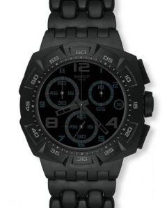 Swatch New Chrono Plastic BLACK DUNES GREY SUIB413