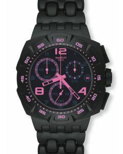 Swatch New Chrono Plastic BLACK DUNES PINK SUIB410