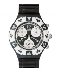 Swatch Midi Aqua Chrono Black Jack SEB100