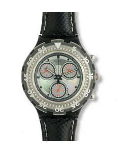 Swatch Aqua Chrono Black Rudder SBB100