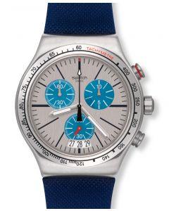 Swatch New Irony Chrono Blau me on YVS435