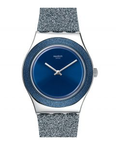 Swatch Irony Medium Blue Sparkle YLS221