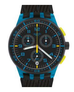 Swatch Plastic Chrono Blue Tire SUSS402