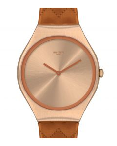 Swatch Skin Irony Brown Quilted SYXG115