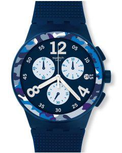 Swatch Chrono Plastic Camoblu SUSN414