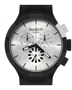 Swatch Big Bold Chrono Chequered Silver SB02B404