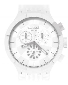 Swatch Big Bold Chrono Chequered White SB02W400