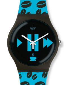 Swatch New Gent Coffee Blues SUOC106