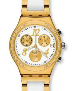 Swatch Irony Chrono DREAMWHITE YELLOW YCG407G