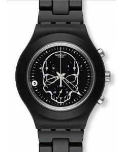 Swatch Irony Diaphane Chrono FULL BLOODED BLACK SKULL SVCF4001AG