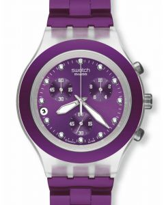 Swatch Irony Diaphane Chrono Full Blooded Blueberry SVCK4048AG