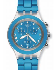 Swatch Irony Diaphane Chrono Full Blooded Cyan SVCK4053AG