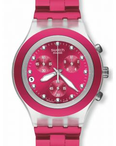 Swatch Irony Diaphane Chrono Full Blooded Raspberry SVCK4050AG
