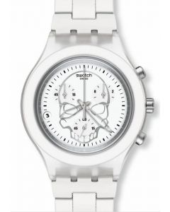Swatch Irony Diaphane Chrono FULL BLOODED WHITE SKULL SVCW400AG