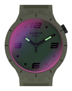 Swatch Big Bold Futuristic Green SO27M105