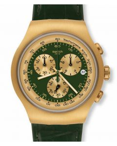 Swatch Irony The Chrono GOLDEN HIDE GREEN YOG406
