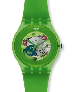 Swatch New Gent GREEN LACQUERED SUOG103