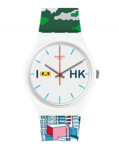 Swatch New Gent Destination Hong Kong Special Lion Rock GZ706