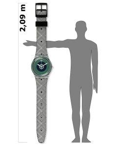 Swatch Wanduhr MAXI GREEN SPELL MGB280