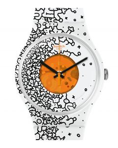 Swatch New Gent Orange Pusher SUOW167