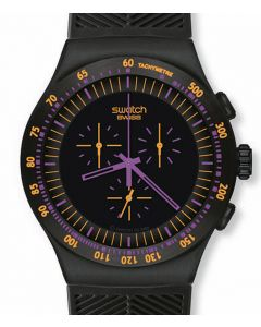 Swatch Irony The Chrono Purple in Dark YOB102