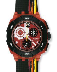 Swatch New Chrono Access Reddish Black SUKR100