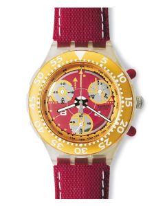 Swatch Midi Aqua Chrono Red Sun SEK105