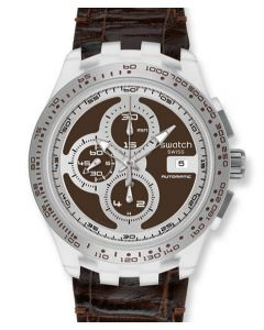 Swatch Chrono Automatik RIGHT TRACK BROWN SVGK408