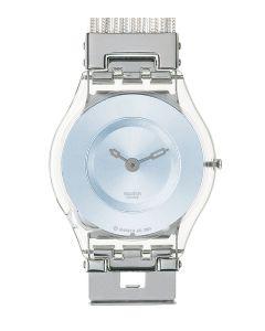 Swatch Skin Classic Silver Meshstream Blue SFK130A/B