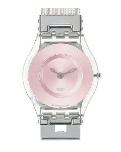 Swatch Skin Classic Silver Meshstream Pink SFK131A/B