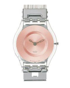 Swatch Skin Classic Silver Meshstream Saumon SFK132A/B