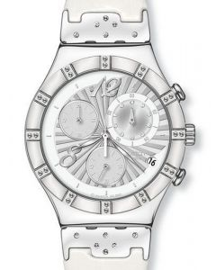 Swatch Irony Chrono Steel & Charm YCS510