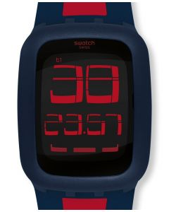 Swatch Digital Swatch Touch Dark Blue & Red SURN101D