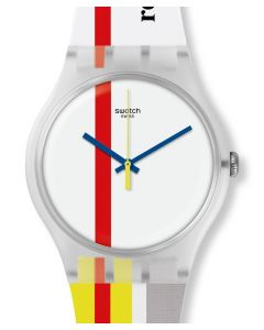 Swatch New Gent The Red Shiny Line SUOZ297