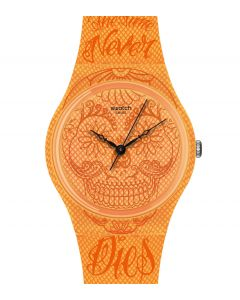 Swatch Gent Time Never Dies Orange GO110