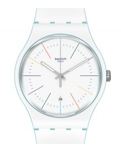 Swatch New Gent White Layered SUOS404
