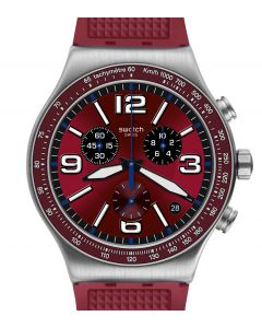 Swatch Irony New Chrono Wine Grid YVS463