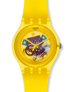 Swatch New Gent YELLOW LACQUERED SUOJ100