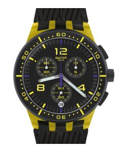 Swatch Plastic Chrono Yellow Tire SUSJ403