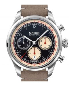 Union Glashütte/Sa. Belisar Chronograph Black Leather Grey D009.427.16.052.00