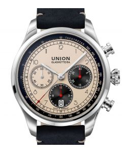 Union Glashütte/Sa. Belisar Chronograph Ivory Leather Black D009.427.16.262.00