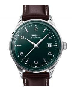 Noramis Date Dark Green Leather Brown D012.407.16.097.00