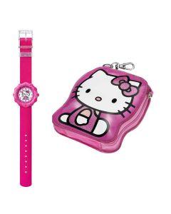 Swatch Flik Flak HELLO KITTY PINK WATCH & PURSE ZFLS016