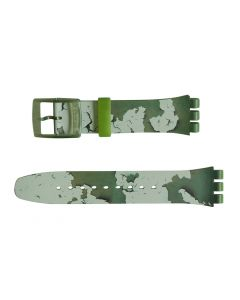 Swatch Armband Rough Green ASUOG105