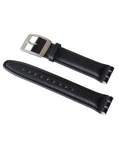 Swatch Armband BLACK LEATHER XL YAYCXL020INOX