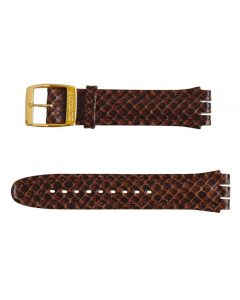 Swatch Armband Snaky Leather Brown AYCG001