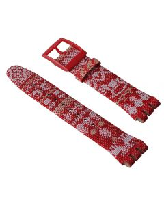 Swatch Armband Red Knit ASUOZ172